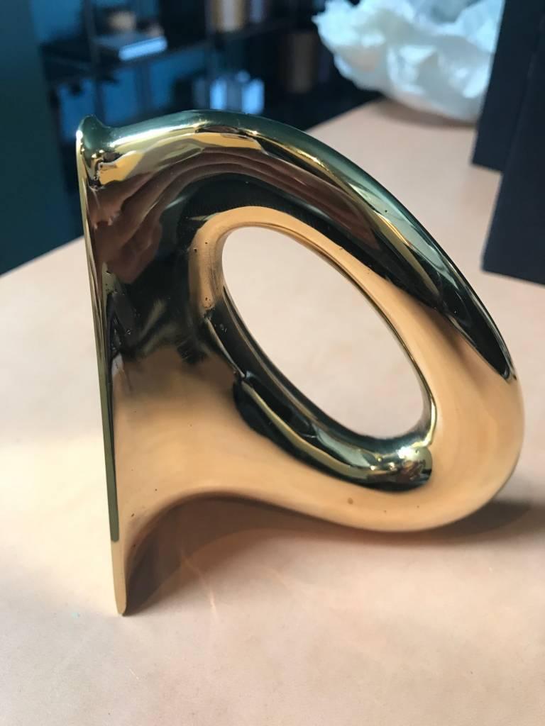 Carl Auböck Polished Brass Flatiron Bookends