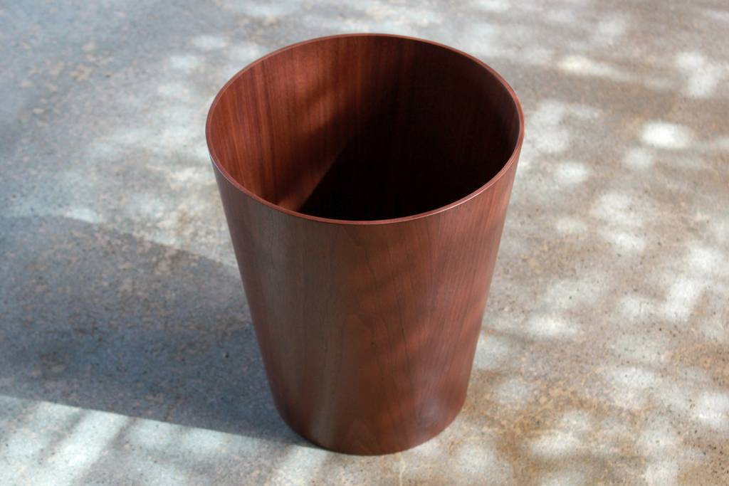 Japanese Walnut Paper Basket