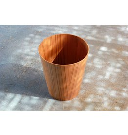 Japanese Ayous Wood Paper Basket