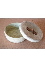 Tortilla Basket in Natural with Leather Handle