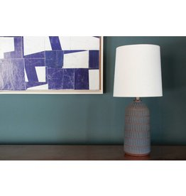 Etched Blue Lamp