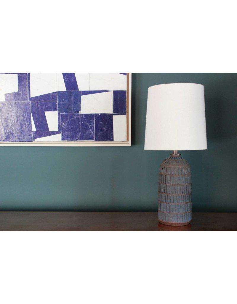 Ceramic  Etched Blue Lamp