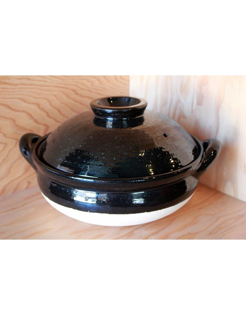 Donabe  Black Large Steamer