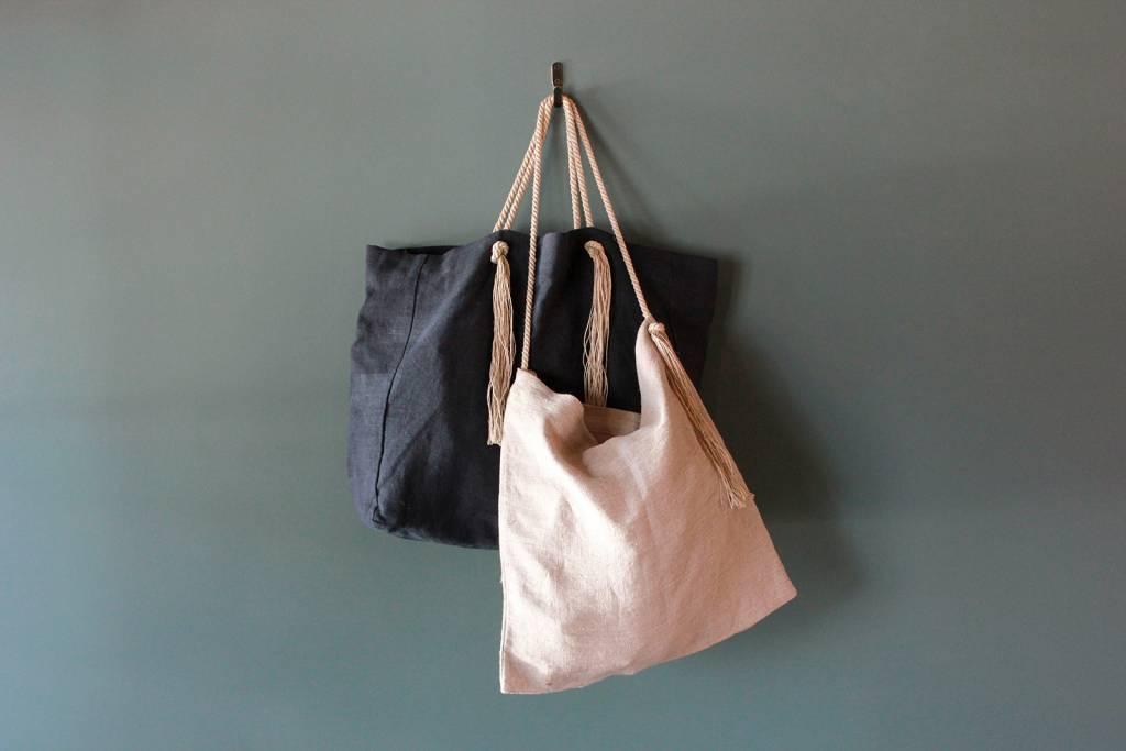 Market Bag in Midnight Blue