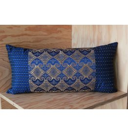 Blue, Gold Med Lumbar Pillow