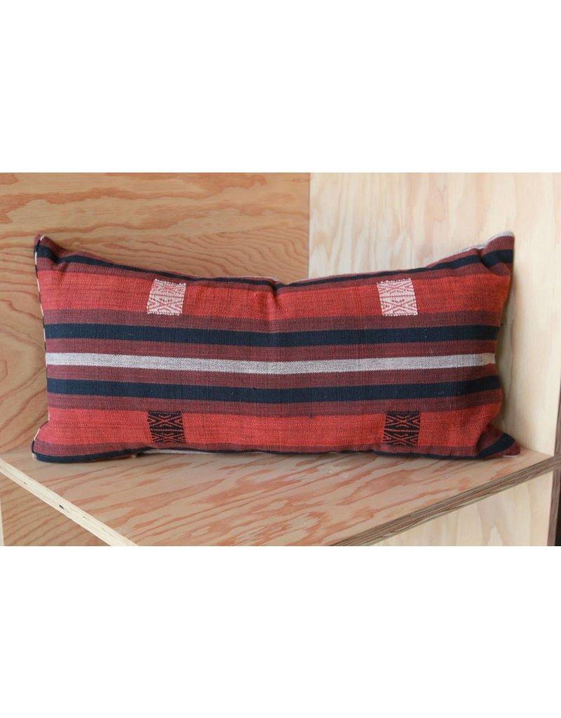 Rust, Black, Medium Myanmar Pillow