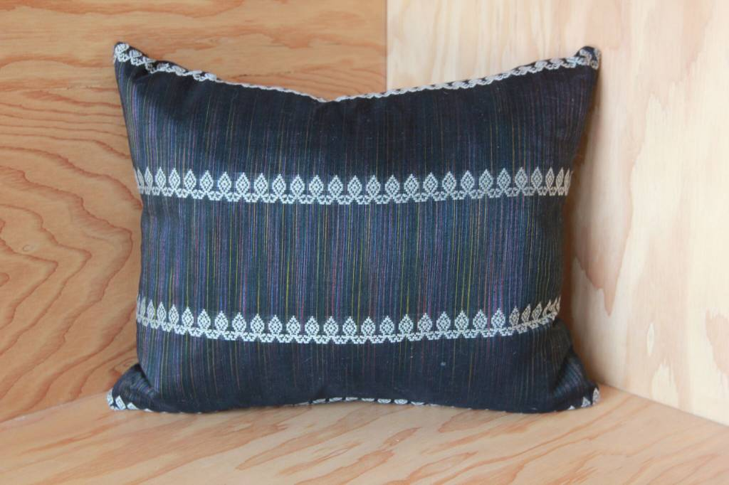 Iridescent with White Pattern Throw Pillow