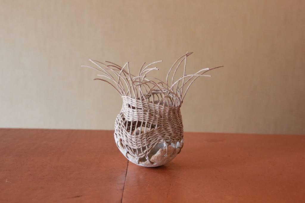Handmade Stoneware Pot - Natural