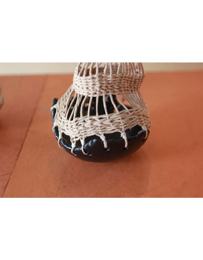 Handmade Stoneware Pot - Black