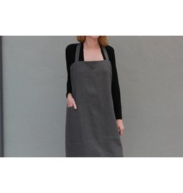 Linen Apron in Charcoal