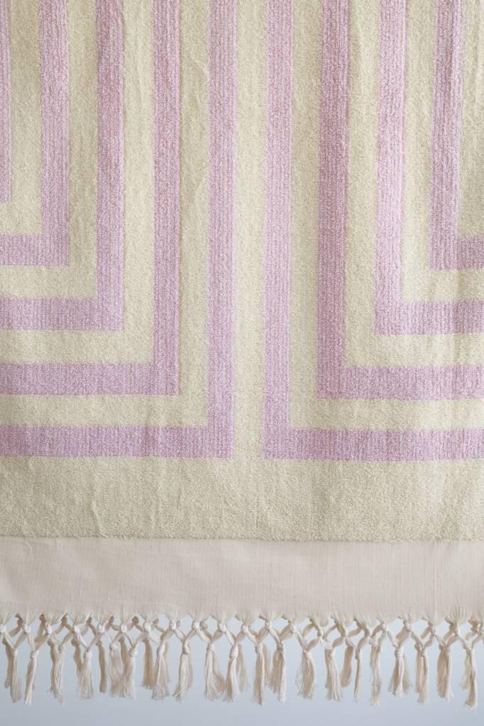 Plush Pink Striped Towel