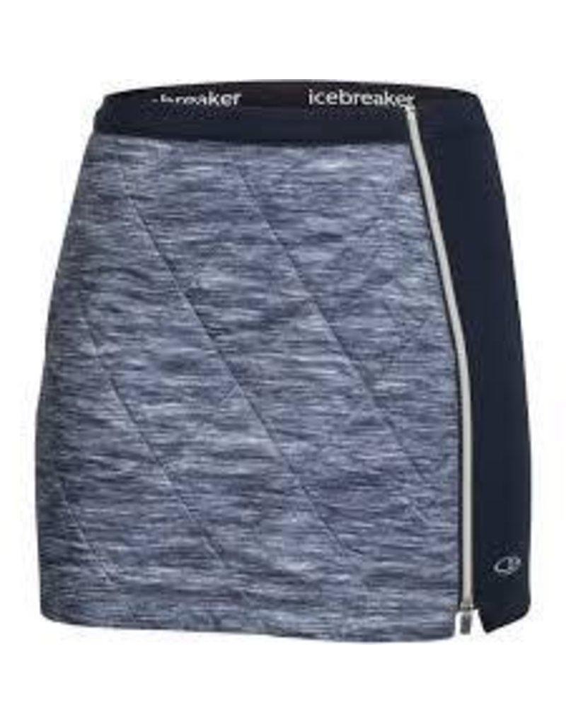IceBreaker Wmns Helix Skirt Fraser Peaks Grey HTHR/Stealth/Snow L