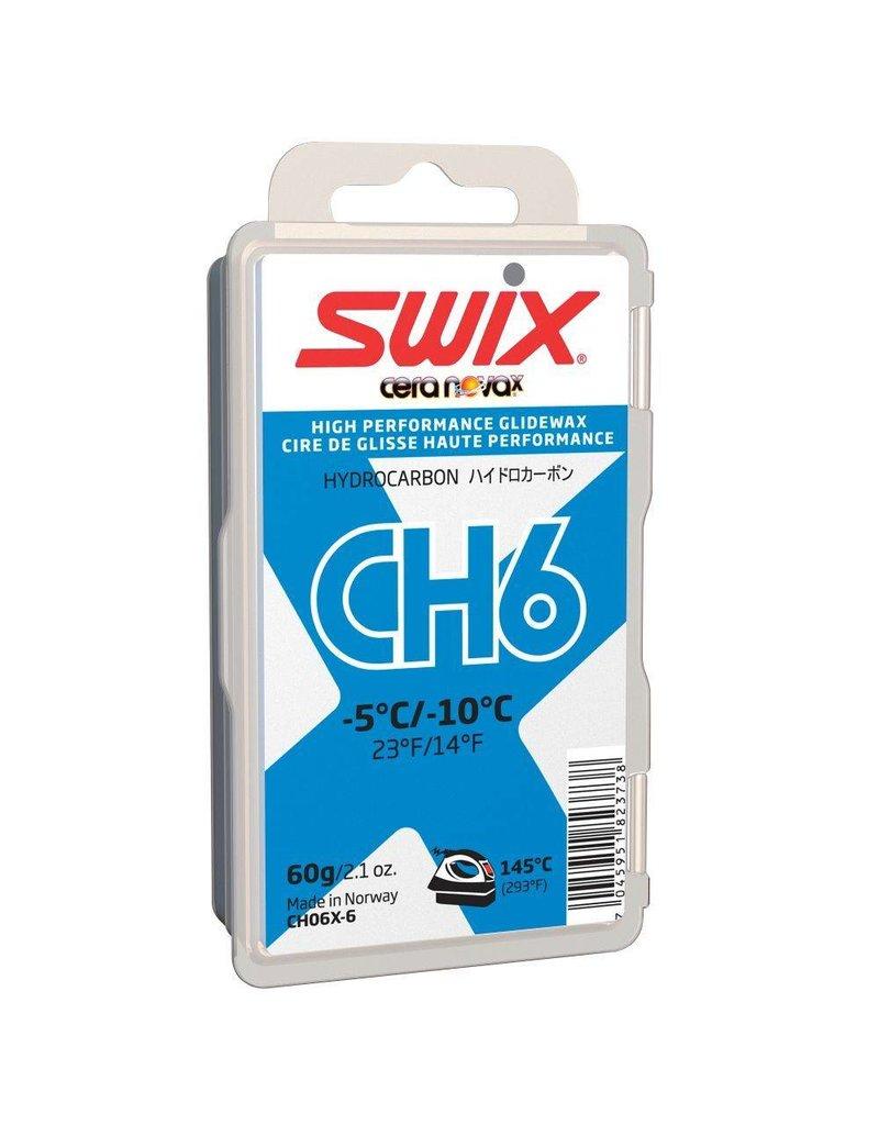 Swix CH 6 HydroCarbon Glide Wax -5C/-10C (60 G)