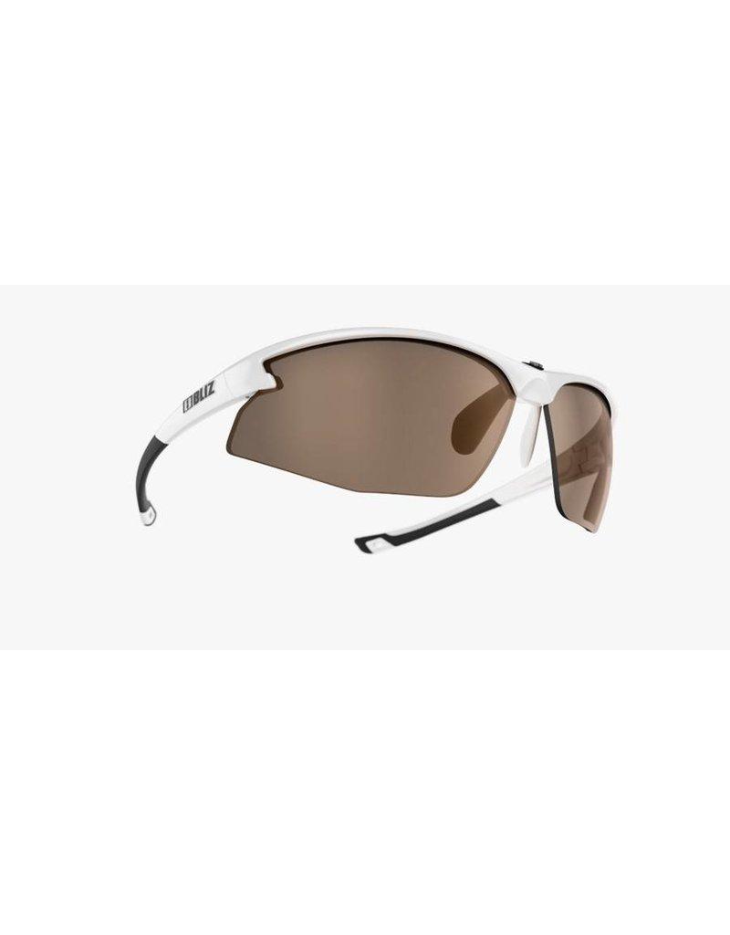 Bliz Motion Sunglasses - white frame, amber lens