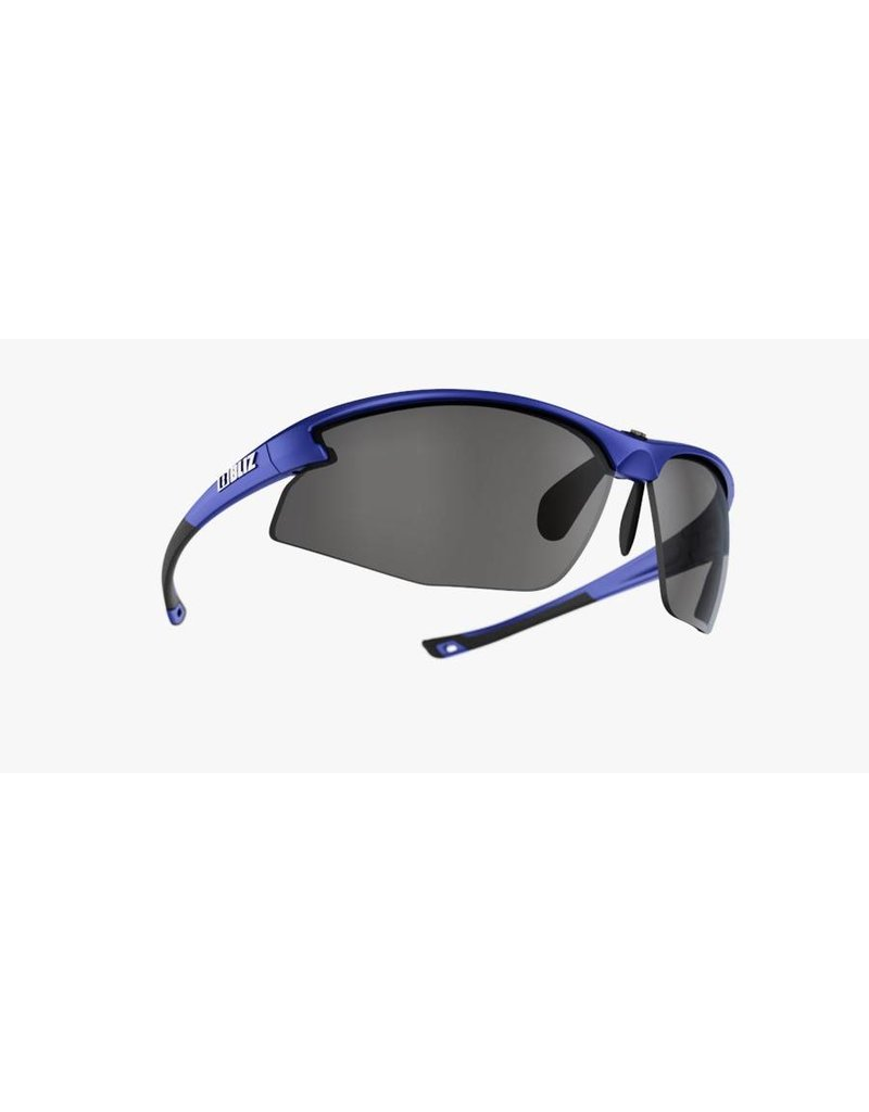Bliz Motion Sunglasses - Blue Frame, Smoke/Silver Lens