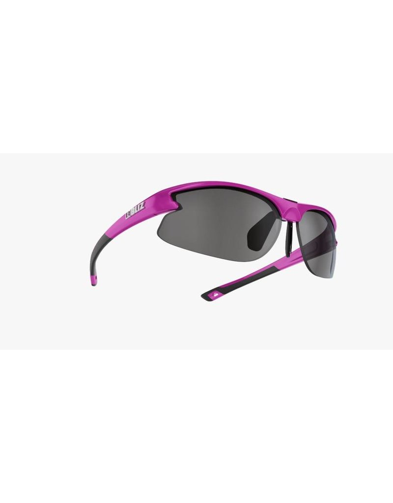 Bliz Motion Sunglasses (SMALL FACE) - Pink Frame, Silver/Orange Lens