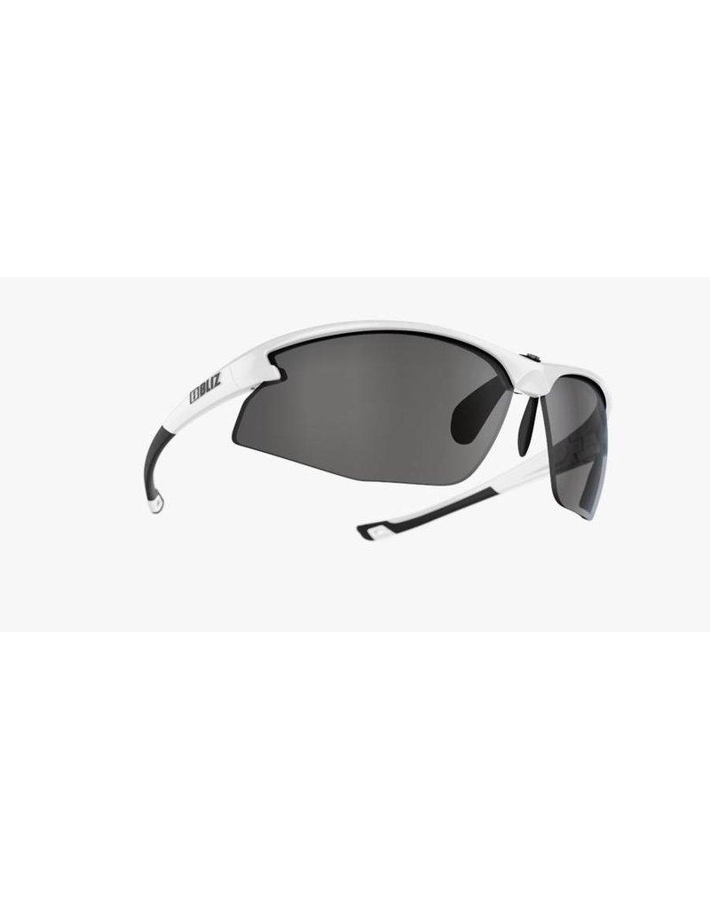 Bliz Motion+ Sunglasses - White Frame, Smoke Lens