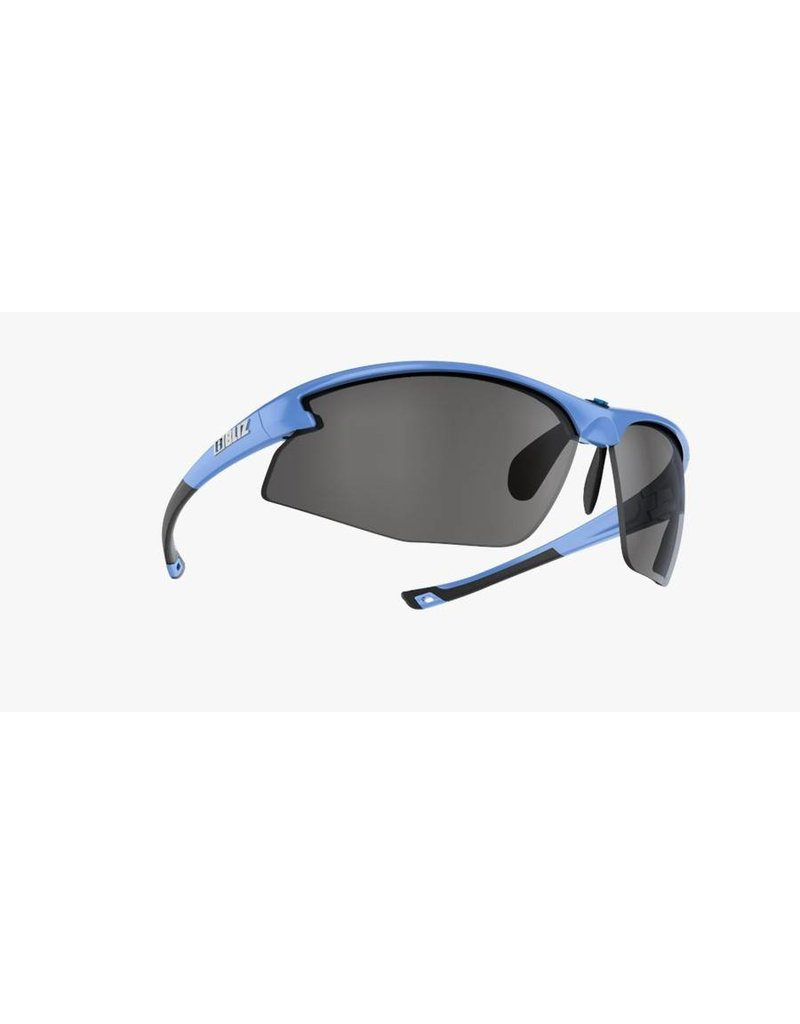Bliz Motion+ Sunglasses - Metallic Blue Frame, Smoke/Silver Lens