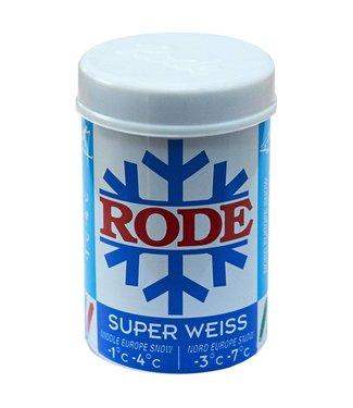 Rode BLUE SUPER WEISS: KICK/GRIP WAX -1C° -4C°, 50g (2018)