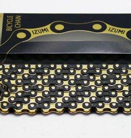 CHAINE IZUMI 1/2 X 1/8 STANDARD JET BLACK & GOLD 116L