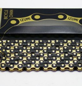 IZUMI CHAIN 1/2 X 1/8 STANDARD JET BLACK & GOLD 116L