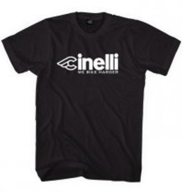 Cinelli T-SHIRT CINELLI, WE BIKE HARDER BLACK