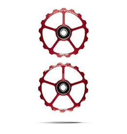 Ceramic speed CERAMICPSEED, OVERSIZED  PULLEY WHEEL (SPARE) 17T, ALLOY, RED, NON COATED