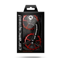 Ceramic speed OSPW, SHIMANO 10+11S (ULTEGRA + DURA ACE), ROUGE, NON COATED
