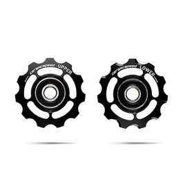 Ceramic speed PULLEY WHEELS SHIMANO 9/10S BLK, NON COATED