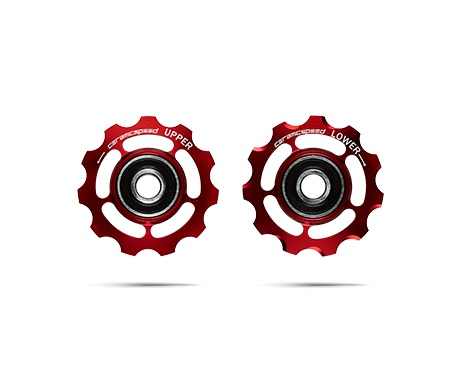 Ceramic speed PULLEY WHEELS SHIMANO 11S RED, NON COATED
