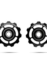 Ceramic speed PULLEY WHEELS SHIMANO 11S BLK, NON COATED