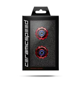 Ceramic speed CERAMICSPEED, PULLEY WHEELS SRAM 11S ROAD, 11T, ALLOY, RED, NON COATED