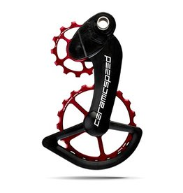 Ceramic speed CERAMICSPEED, OVERSIZED PULLEY WHEEL, CAMPY RECORD (MEC & EPS) SUPER RECORD (MEC & EPS) CHORUS MEC AND POTENZA MEC COATED,13+19T, ALLOY, RED
