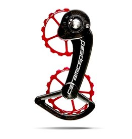 Ceramic speed CERAMICSPEED, OVERSIZED PULLEY WHEELS, SRAM ETAP COATED, 17T, ALLOY, RED