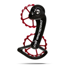 Ceramic speed CERAMICSPEED, OVERSIZED PULLEY WHEELS, SRAM 10-11S (MECHANICAL), 17T, ALLOY, RED, COATED