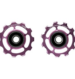 Ceramic speed PULLEY WHEELS CAMPY 11S ROSE NON COATED