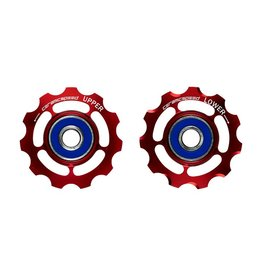 Ceramic speed PULLEY WHEEL SRAM 9+10 SPEED RED NON COATED