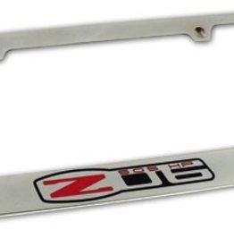 Accessories 2006-13 Z-06 License Plate Frame Chrome