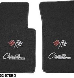 Accessories 1963-67 Floor Mats Dual Logo Black Pair