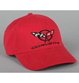 Apparel C5 Cap Red W/Logo