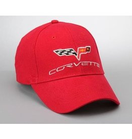 Apparel C6 Cap Red W/Logo