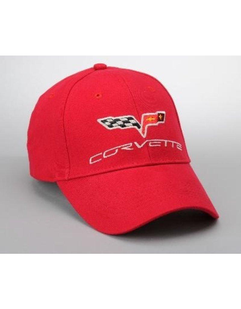 Apparel C6 Cap Red W/Logo