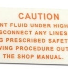 Books\Manuals 1963-65 Air Compressor Warning Decal