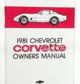 Books\Manuals 1981 Corvette Owners Manual