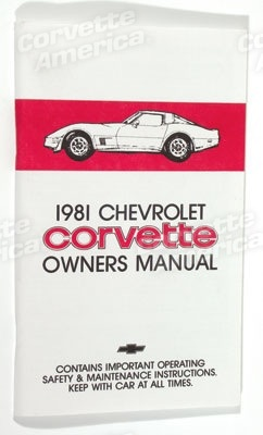 Books\Manuals 1981 Corvette Owners Manual
