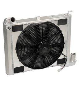 Cooling 1963-72 Aluminum Radiator W/Electric Fan Kit