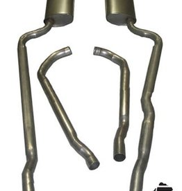 "Exhaust 1964-65 Exhaust System 327 2 1/2"" Off Road with N11 Mufflers"