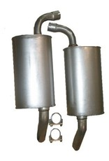 Exhaust Stock replacement Mufflers for 1974 Pair