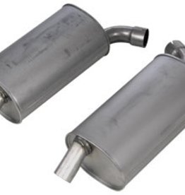 "Exhaust 1968-72 Stock Style Reproduction Mufflers 2 1/2"" Inlet Pair"