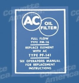 Books\Manuals 1958-67 Oil Filter Decal